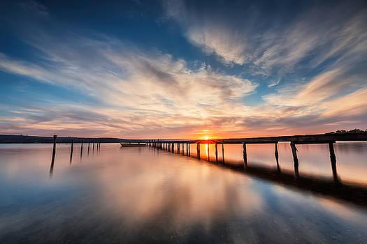 Lake sunset by Evgeni Ivanov