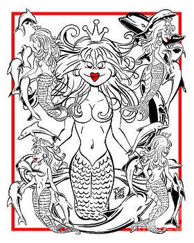 5 Mermaids by Joe King
