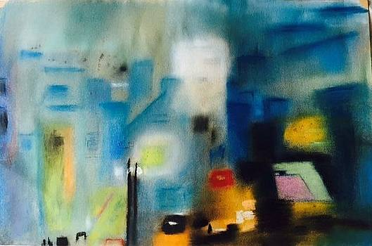 Lights of the city by Agota Horvath