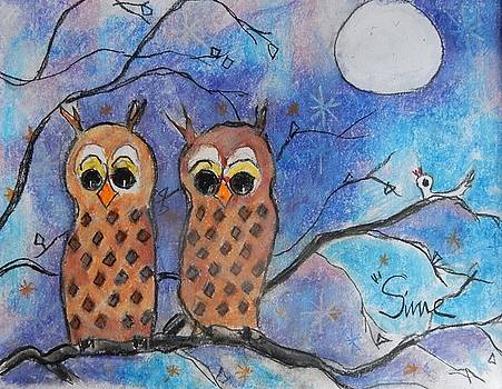 Two Owls by Michael Sime