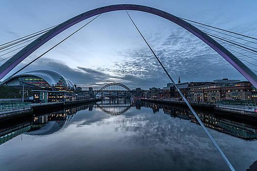 Newcastle Quayside and Sage Gateshead by David Pringle