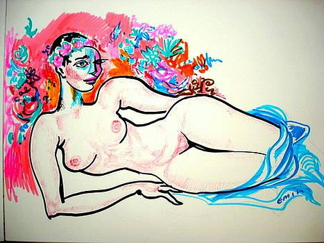 Reclining nude by Emin Guliyev