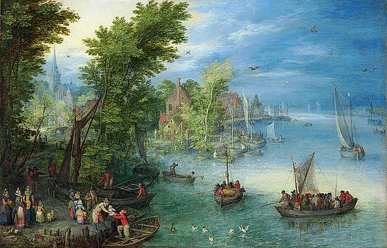 Jan Brueghel the Elder - River Landscape