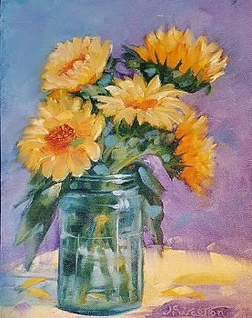 5 Sunflowers by Judy Fischer Walton