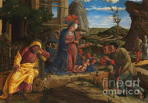 The Adoration of the Shepherds by Andrea Mantegna