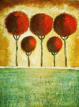 5 Trees by Avon Du Toit