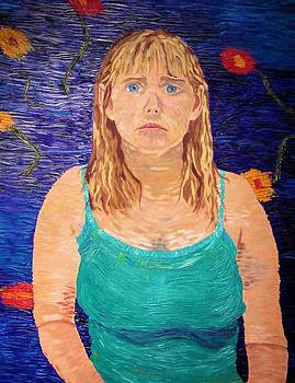 Self portrait in Van Gogh style by Sherri Ward