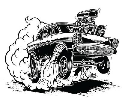 '57 Gasser Cartoon by Matt Dyck
