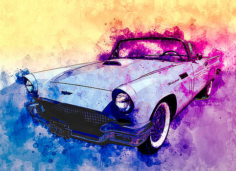 57 Thunderbird Watercolour by Chas Sinklier