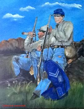 5th Georgia  infantry soldiers C.S.A. by Catherine Swerediuk
