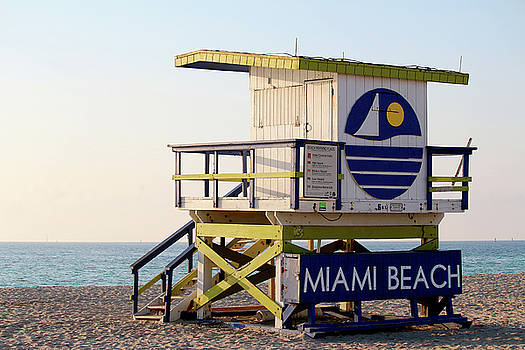 5th Street Lifeguard Tower by Art Block Collections