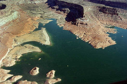 Aerial View of Lake Powell by Carl Purcell