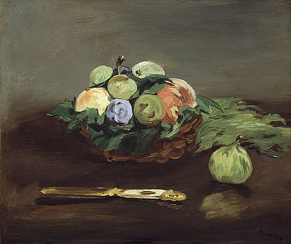Basket of Fruit by Edouard Manet