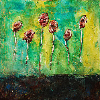 6 Black Roses  by Marabeth Quin