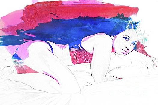 Boudoir Digital Watercolor by Alexander Butler