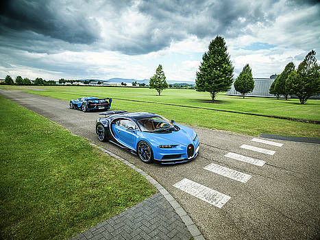 Bugatti Chiron and Vision GT by George Williams