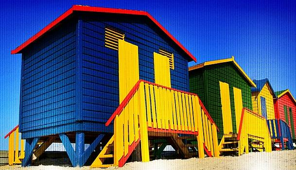 Colorful Huts by Werner Lehmann