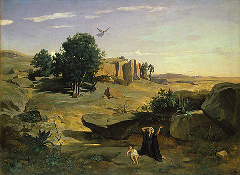 Hagar in the Wilderness by Camille Corot