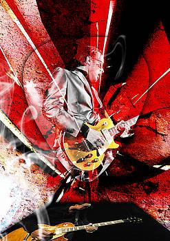 Joe Bonamassa Blues Guitarist Art. by Marvin Blaine
