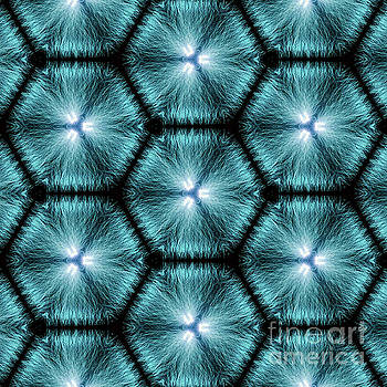 Kaleidoscopic Image Created from Real Electrical Arcs by Amy Cicconi