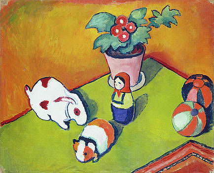 Little Walter's Toys by August Macke
