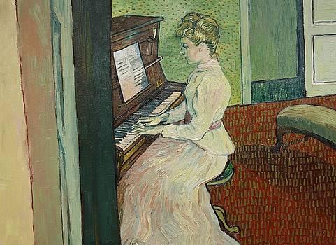 Marguerite Gachet at the Piano by Anna Kluza