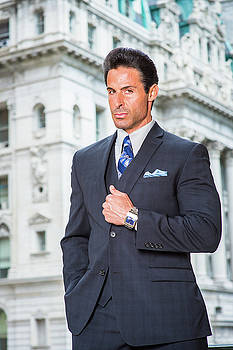 Alexander Image - Portrait of Handsome American Middle Age Businessman in New York