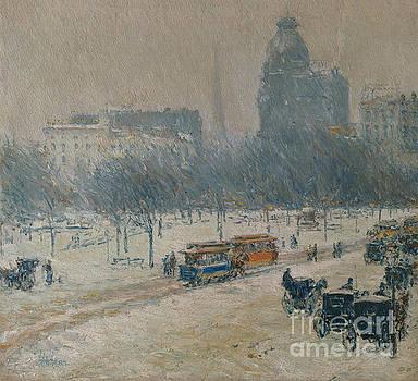 Childe Hassam - Winter in Union Square