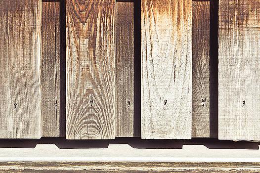 Wooden wall by Tom Gowanlock