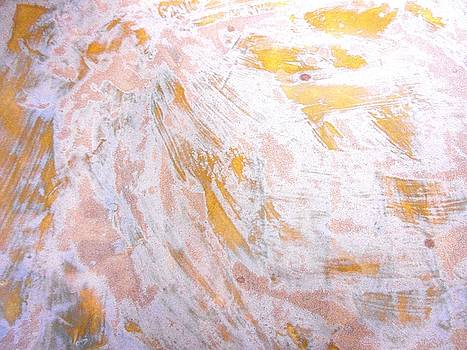 65. Orange and White Organic Abstract by Maggie Minor