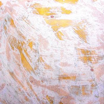 65. v2 Orange and White Organic Abstract by Maggie Minor