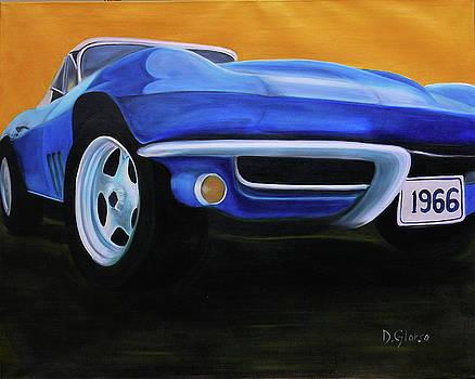 66 Corvette - Blue by Dean Glorso
