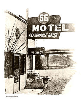 66 Motel - Vacancy by Margie Middleton