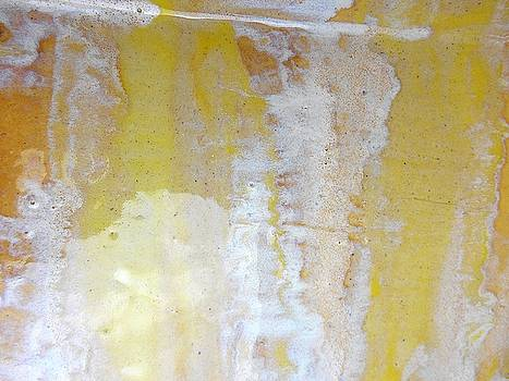 66. Yellow and White Organic Stripped Abstract by Maggie Minor