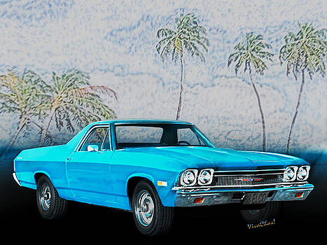 68 Chevy El Camino 3rd Generation 1968-1972 by Chas Sinklier