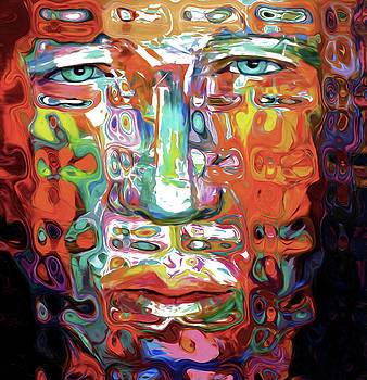 69 Abstract Face by Nixo by Nicholas Nixo