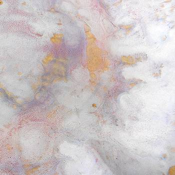 69. v1 Lavender, Purple and White Organic Abstract by Maggie Minor