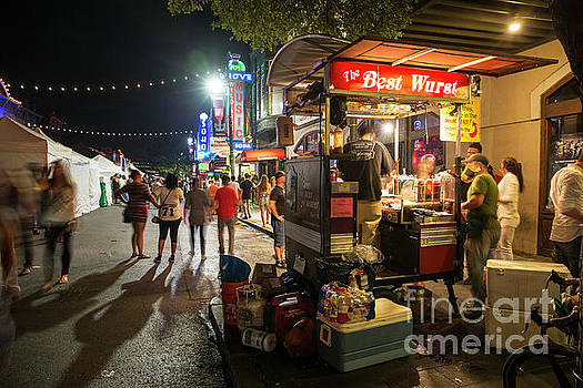 Herronstock Prints - 6th Street offers delicious cuisine from food carts among the wo