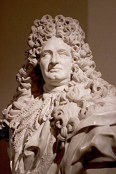 Bust of the King Louis XIV by Carl Purcell