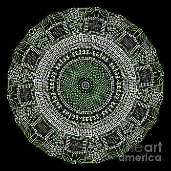 Kaleidoscope of an actual Circuit Bard by Amy Cicconi