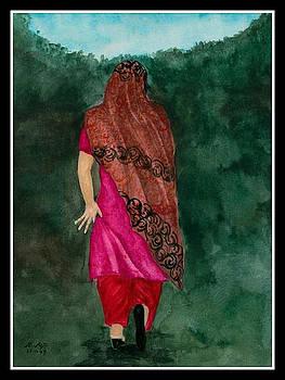 Pashtun Girl by Asif Kasi