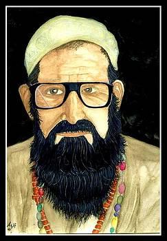 Pashtun Old Man by Asif Kasi