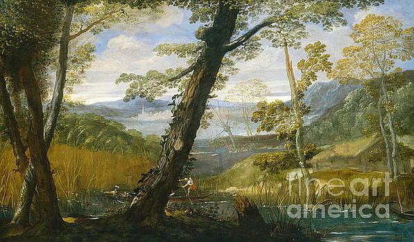 River Landscape by Annibale Carracci