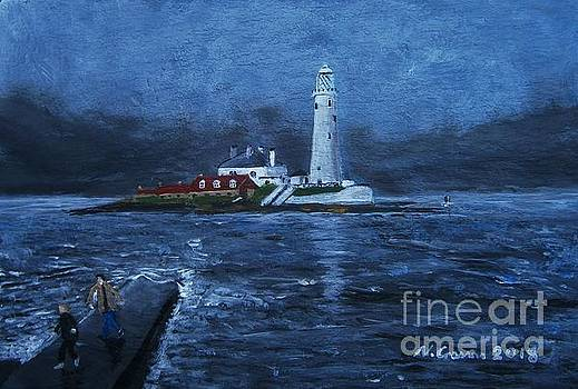 Saint Mary's Lighthouse Whitley Bay by Neal Crossan