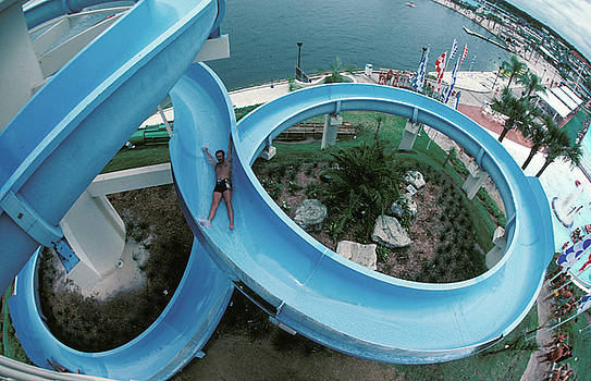 Water slide at Wet and Wild by Carl Purcell