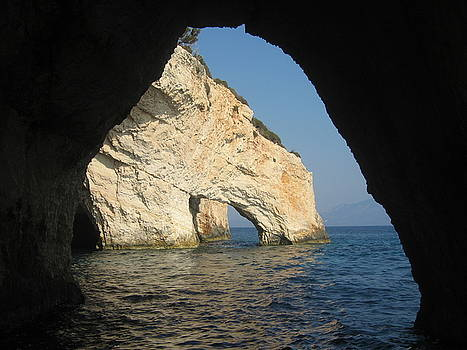 Newnow Photography By Vera Cepic - White cliffs and attractive Blue caves on island of Zakinthos sh