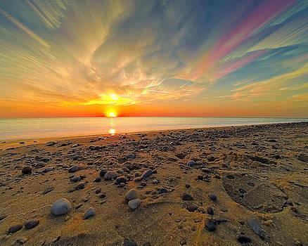 70 Mile Stacked Sunset by Jackie Novak