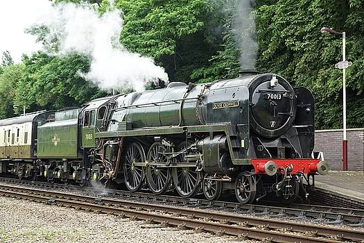 70013 Oliver Cromwell at Leicester by David Birchall