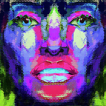 71 Abstract Face by Nixo by Nicholas Nixo