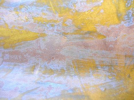 71. Yellow Purple and Blue Organic Abstract by Maggie Minor